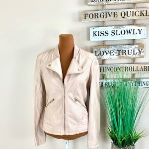 THERAPY | Nude Leather Jacket
